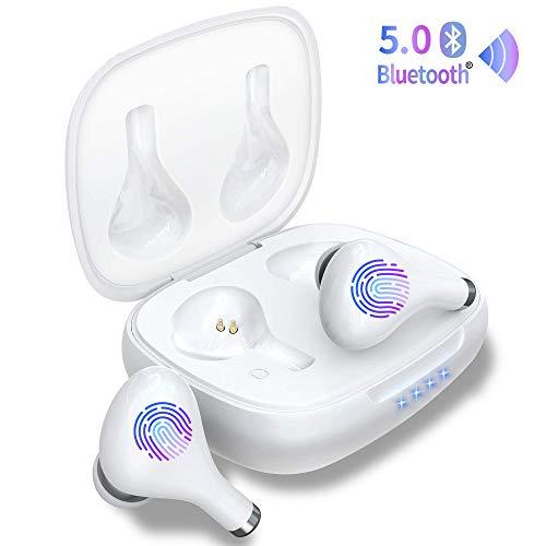 Wireless Earbuds,GRDE Bluetooth Earbuds Noise Canceling true Wireless earbuds V5.0, 40H Cyclic Playtime Waterproof Headphones Sport Bluetooth Headphones in Ear Stereo Earphones with Mini Charging Case