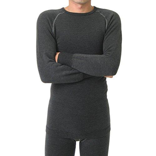 ワシオもちはだ『もちジョイ丸首長袖シャツ細微厚地男性用(mjm-001)』