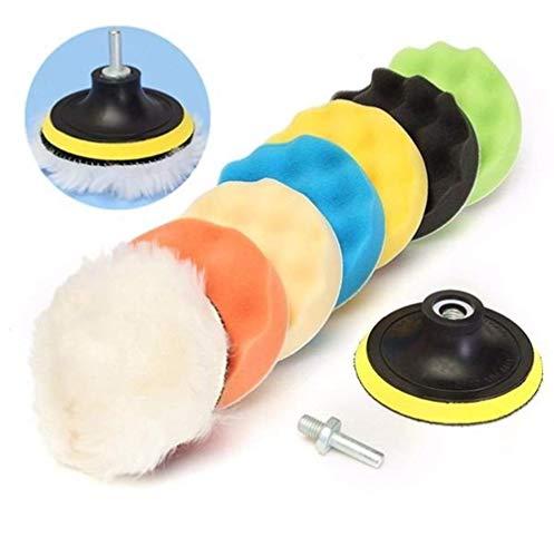 ViewSys Abrasive, Kit de Herramienta de abrasivos de Pulido/Pulido del cojín for el Coche Pulidora 8pcs 5 Pulgadas de Lana Pincel de Pulido,