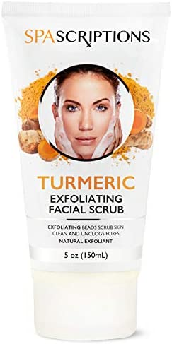 Face Exfoliating Scrub Turmeric Tea Tree Hyaluronic Acid Sugar Face Wash 5 Oz Turmeric product image