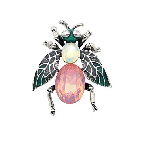 BIGBOBA Mesdames broche émail broche dessin animé mignon insigne en alliage goutte ruche d'abeille pour chapeau et sac à dos (3,5 * 4,2 cm)