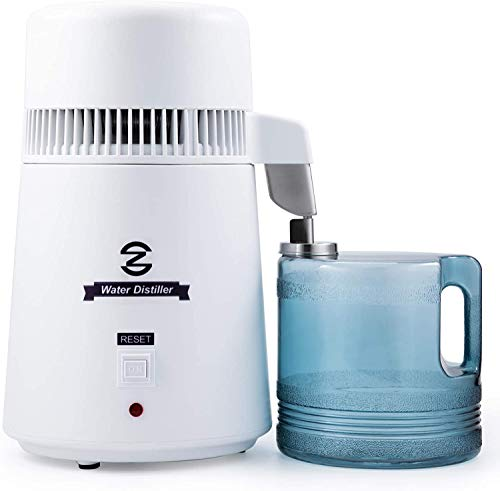CO-Z Distillatore Acqua 4L Macchina per Acqua Distillata con Caraffa Filtrante Purificatore Acqua con Bottiglia di Raccolta (Bianco-4L)