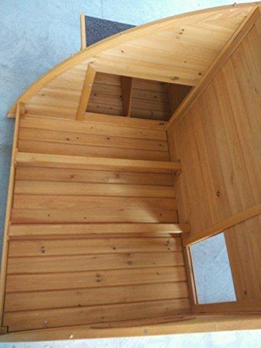 Hühnerstall Hühnerhaus Cocoon Hühnerstall Half Moon mit abnehmbares Dach für einfachere Reinigung, mit stabilem Nistkasten, grosser Lebensraum und 167cm Lang inklusive Nistkasten - Designer Stall - 4