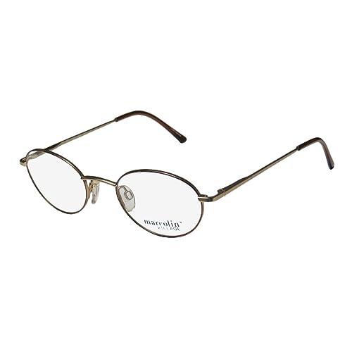 1e5ed4b78f Marcolin Village 6725 Mens Womens Oval Full-Rim Flexible Hinges Classic  Shape Eyeglasses