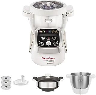 Moulinex hf802aa1 cuisine companion robot multifunzione +taglia verdura + vaporiera + seconda bowl
