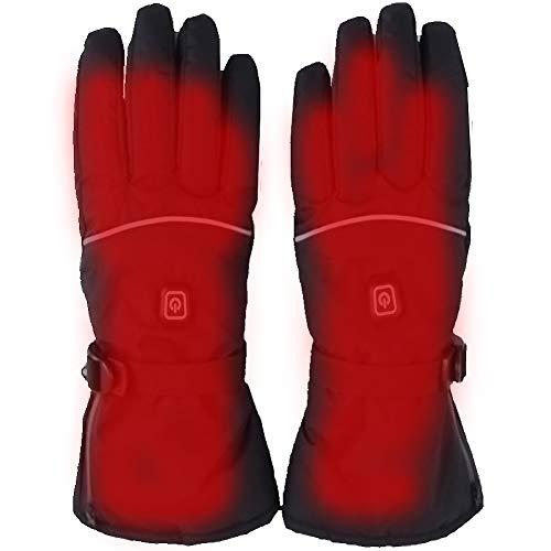 Buyto Warmtehandschoenen voor heren, oplaadbaar, elektrisch, warm verwarmd, op batterijen, aangedreven wintersport, voor klimmen, skiën