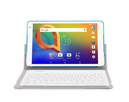 Alcatel A3 - Tablet de 10.1'' HD IPS (WiFi, Procesador QuadCore, 1GB de RAM, 16 GB de Memoria Interna, Android); con Funda Teclado Bluetooth Original TYPECASE KB20 Blanco