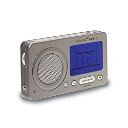 Sound Oasis S-850 Travel Sleep Sound Therapy System (Black), Jet-Lag Reduction Sound with Voice Memo, 18 Soothing Natural Sounds