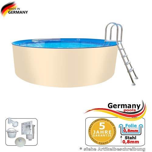 Stahlwandpool 200 x 125 cm Rundformpool Pool rund 2,0 Swimmingpool 2,00 Rundpool Rundformbecken Schwimmbecken Stahlpool Poolbecken