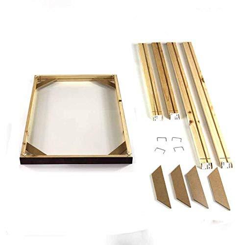 EOYVO Bastidores de lona maciza, juego de barras de madera de pino premium,Marco de madera para lienzo,pinturas al óleo suministros de materiales de accesorios de bricolaje-40x50cm