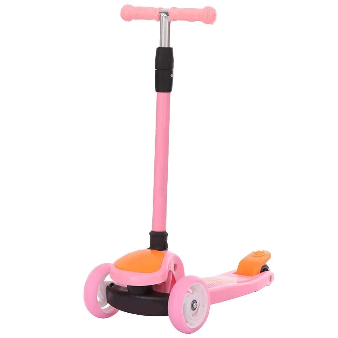 インフラ日曜日前投薬YUMEIGE キックボード キックスクーター 二重後輪が付いているスクーター3の高さの調節可能な子供のスクーター3の車輪のスクーターの耐荷重60 Kg 2-8子供のギフトのために適した 利用可能