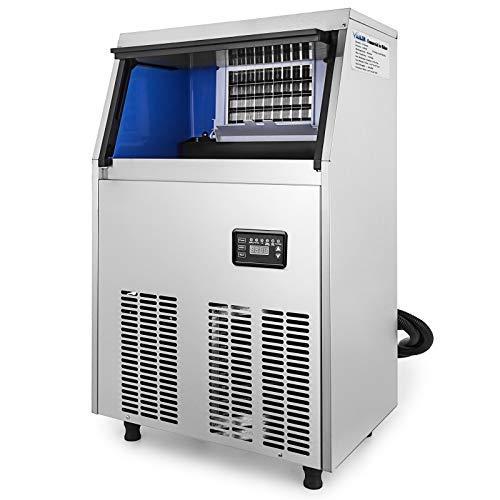 Chaneau Machine à Glaçon Commerciale Capacité De 40kg Machine à Glace Professionnelle électrique En Acier Inoxydable 304 (50kg)