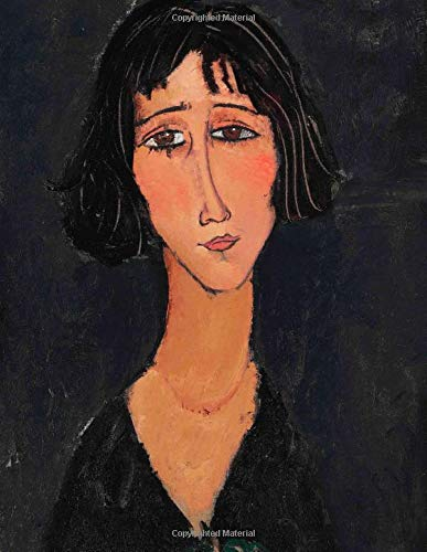 """Amedeo Modigliani LARGE Notebook #8: Modigliani Notebook College Ruled to Write in 8.5x11"""" LARGE 100 Lined Pages - Jeune femme à la rose - Margherita - Cool Artist Gifts"""