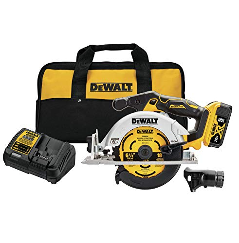 DEWALT 20V MAX Circular Saw, 6-1/2-Inch, Cordless Kit (DCS565P1)