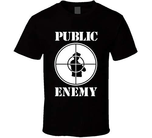 Public Enemy Logo Camiseta Negro
