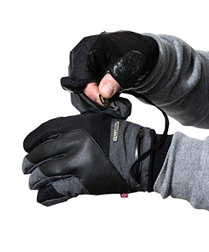 Markhof Pro Model 2.0. Vallerret Photography Gloves for better winter photography (Grey, L)