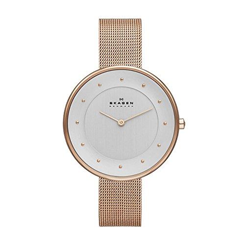 Skagen Damen Analog Quarz Uhr mit Edelstahl Armband SKW2142
