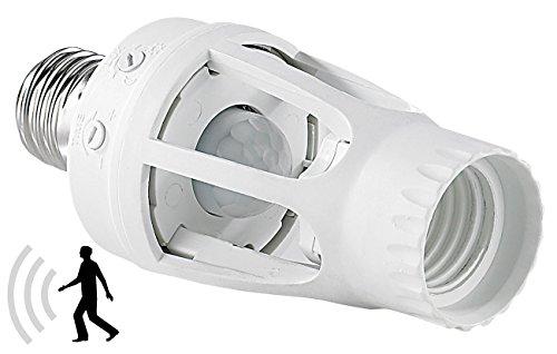 Lunartec Bewegungsmelder Fassung: Lampenfassung mit 360°-PIR-Bewegungssensor, E27 (Bewegungsmelder Lampenfassung)