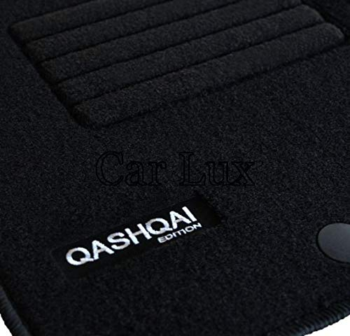 Car Lux AR00032 Tapis sur mesure en velours avec talonnette pour Qashqai Tekna à partir de 2014