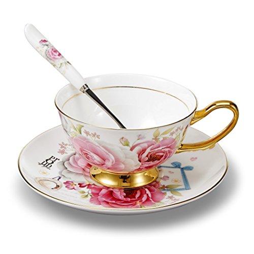 Panbado Juego de Tazas de Café de China de Hueso, 200ml, Tazas...