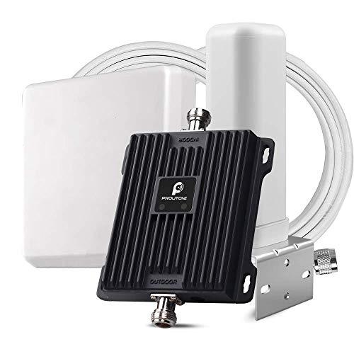 Proutone Amplificador de Cobertura Móvil,LTE 800MHz Repetidor gsm 900MHz,Dual Band Repetidores Señal Celular Teléfono Móvil Llamadas + Datos 4G