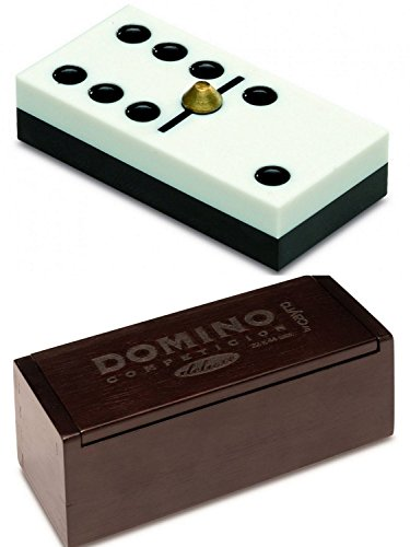 Domino de Competicion con Fichas de Resina Caja de Madera de Luxe Lujo 252