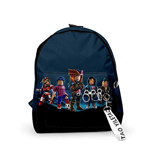 Unisex 3D Roblox Patterns Daypack Backpack Boys Girls Casual School Bag Rucksack Cartoon Patterns Shoulder Bags Perfect for School and Travel