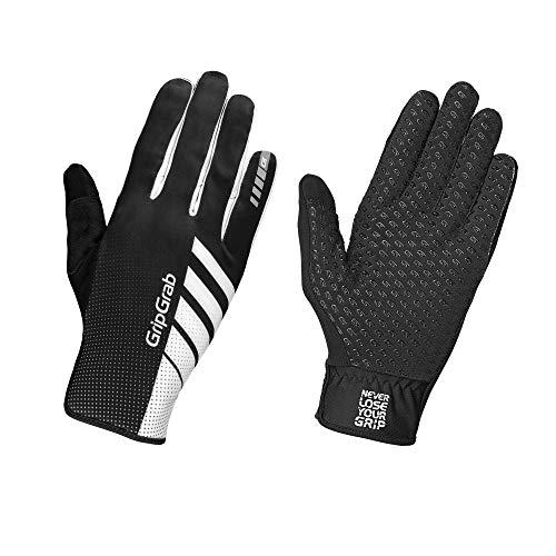 GripGrab Unisex– Erwachsene Raptor Profi Winter Race Handschuhe Ungepolsterte rutschfeste Winddichte Wettkampf Radsporthandschuhe MTB CX Fahrrad, Schwarz-Weiß, S