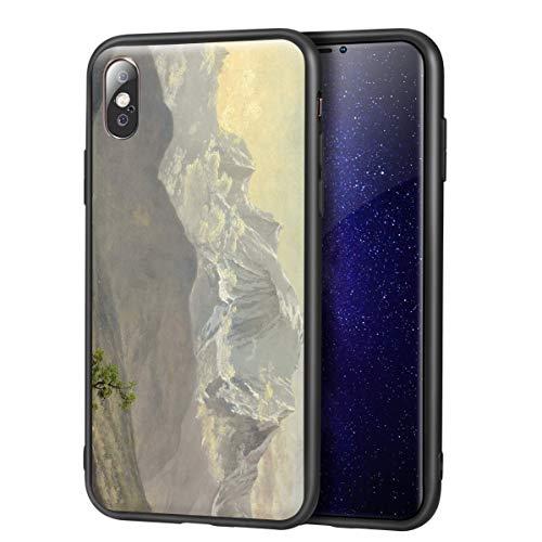 Berkin Arts Albert Bierstadt para el Caso del iPhone X/iPhone XS/Estuche para teléfono móvil Artes/Impresión Giclee UV Cubierta del(Mont Blanc)