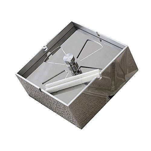 REWD Hogar Ceniceros para Puros Ceniceros - Acero Inoxidable Cenicero, for Sala de Estar Dormitorio Oficina Cenicero, 14.5x7cm para decoración en el hogar y en la Oficina (Color : Mirror Surface)