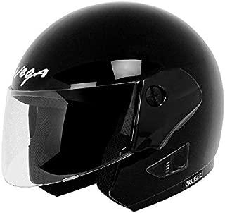 Vega Cruiser Open Face Helmet (Black, M)