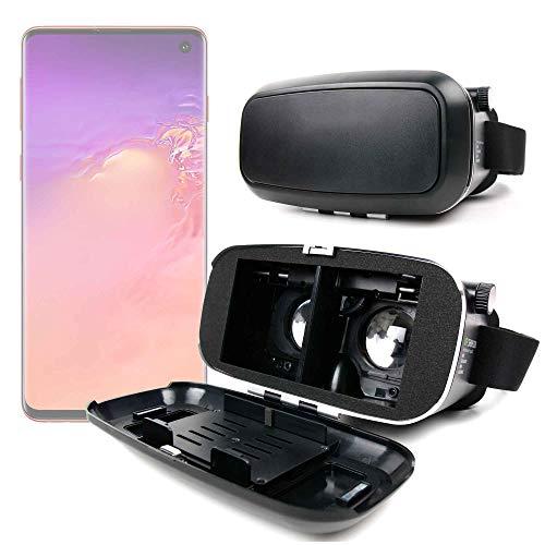 Duragadget - Maschera VR di realtà virtuale rigida per Samsung Galaxy A50, A50s   A30, A30s   S10   S10e   S10 5G   S10+ (Plus)   M10   M20 Smartphone