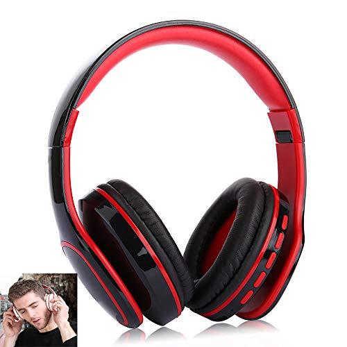 wolfjuvenile Bluetooth-Over-Ear-Kopfhörer,Bluetooth Wireless Kopfhörer Noise Cancelling,Noise Cancelling KopfhöRer Mit Mikrofon,Mit High Clarity Sound,FüR Die Reise Arbeit Tv Pc Handy,Black