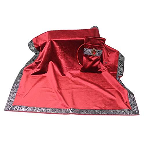 non-brand Bolsa Clásica de Cartas Tarot Mantel de Mesa Mantel de Adivinación de Terciopelo - Rosado