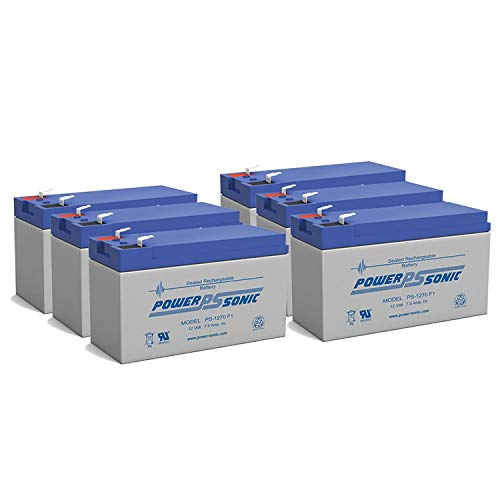 Power Sonic 12V 7Ah Battery Replacement for ION Audio Raptor - 6 Pack