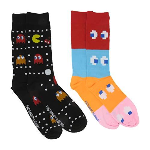 Pac-Man Men's Crew Socks 2 Pair Pack Shoe Size 6-12