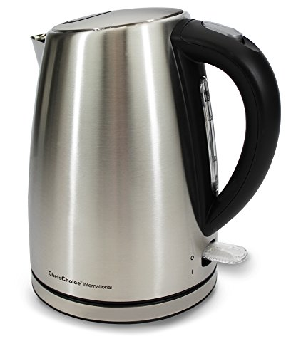 ChefsChoice International 6810001 Compact Cordless Electric Kettle, 1500 W, Stainless Steel