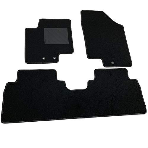 MTC Fußmatten für Hyundai IX20 ab 2010> Fix, rund, passgenau, rutschfest, PVC-Absatzschoner und Befestigungen