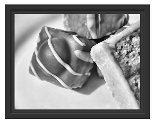 Picati heerlijke snoep in schaduwvoeg fotolijst | kunstdruk op hoogwaardig galeriekarton | hoogwaardige afbeelding op canvas alternatief 38x30