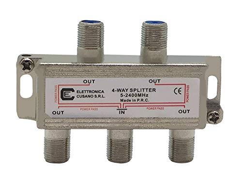 Elettronica Cusano Splitter Satellitare 4 Vie, 1, grigio