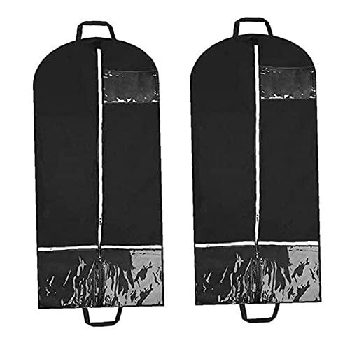 Cubierta de Ropa Colgante Ropa Bolsas de Polvo para Almacenamiento de Viajes con Bolsas de Almacenamiento múltiples 2pcs Bolsas de Vestir