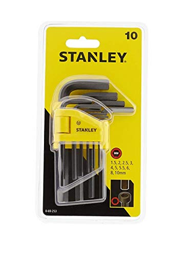 Stanley Hex Key Set 10Pc 1.5-10Mm 0 69 253