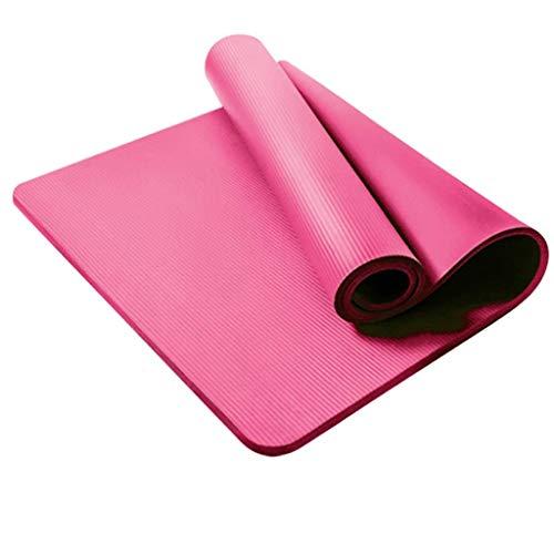 MOTOCO Komfort-Gymnastikmatte Yogamatte Hautfreundliche Fitnessmatte in 180X61X1,5CM mit Tragegurt Phtalatfrei - Sportmatte für Yoga Pilates und Bodenübung(180X61X1.5CM.Rosa)