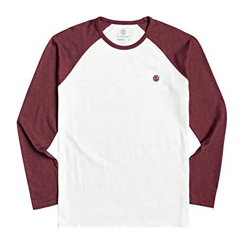 Element Herren Blunt - Longsleeve für Männer T-Shirt, Vintage red, L