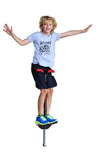 Flybar Velocity Pro Trick Pogo Stick for Kids & Adults - Comes in Small (40-80 lbs), Medium (80 to 160 lbs) Or Large (90 to 180 lbs) (Red, Large)