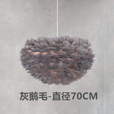 Feder Kronleuchter Nordic Kreative Einfache Mode Kunst Warme Romantische Schlafzimmer Dekoration Persönlichkeit Postmoderne Beleuchtung Ohne Lampe 70 Cm 60 Watt