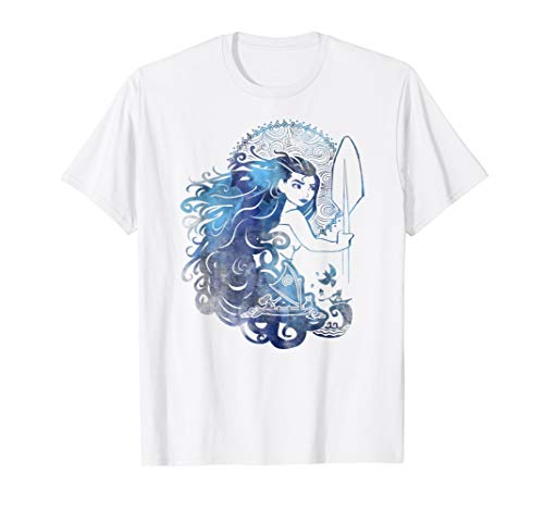 Disney Moana Island Princess Sea Ocean Hair Graphic T-Shirt