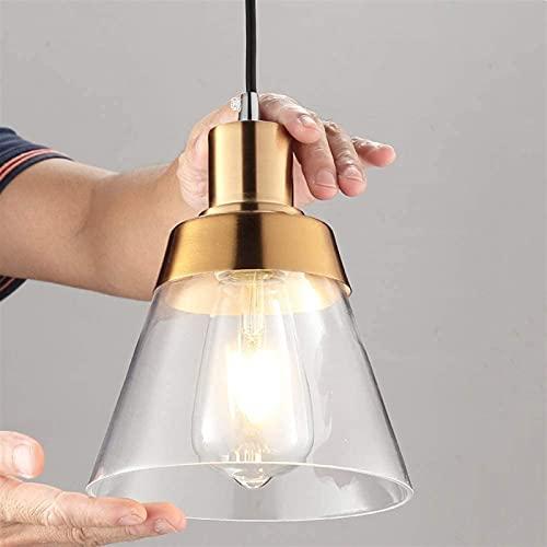 Samanth Lámpara de araña creativa moderna Lámparas de araña de cristal dorado lámpara lámpara lámpara de noche cocina dormitorio decoración interior iluminación E27 enchufe accesorios (tamaño: 1 luz)