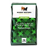 Muddy Waters Coffee Co Whole Bean Coffee Medium Roast Autumn, Certified USDA Organic Coffee Fair Trade, 12 Ounce