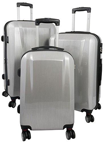 Polycarbonaat kofferset 3-delig Wellington 93+59+35 liter 4 verschillende kleuren